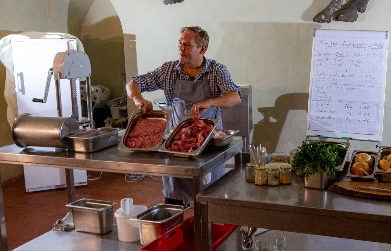 Weißwürste selbst gemacht in Regensburg